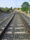 Railway curve Royalty Free Stock Images