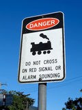 Railway Danger Sign Royalty Free Stock Photography