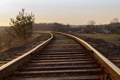 The railway at dawn. royalty free stock photos