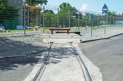 Railway deadlock Stock Photography