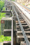 Railway. Death Railway in Kanchanaburi, Thailand Royalty Free Stock Images
