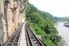Railway. Death Railway in Kanchanaburi, Thailand royalty free stock photo