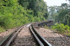Railway. Death Railway in Kanchanaburi, Thailand Royalty Free Stock Image