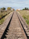 Railway in deep Uruguay town stock image