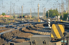 Railway defocused daylight Royalty Free Stock Photo