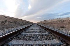 Railway in desert terrain Stock Image