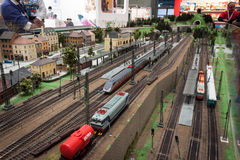 Railway diorama at G! come giocare in Milan, Italy Stock Photo