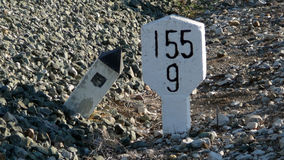 Railway Distance markers Stock Photography