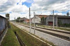 Railway double track Stock Photos