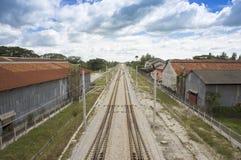 Railway double track Stock Image