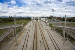 Railway double track Stock Photo