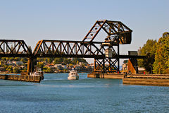 Railway Drawbridge Stock Image