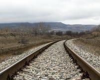 Railway in Dune Sarykum Stock Photography