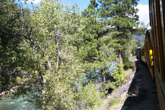 The railway from Durango to the silver town of Silverton Colorado USA Royalty Free Stock Photos