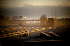 Railway at Dusk Royalty Free Stock Photography