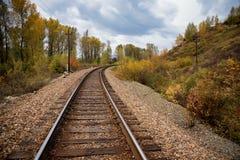 Railway in East Kazakhstan Royalty Free Stock Images