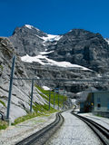 Railway in Eiger mountain Royalty Free Stock Photos