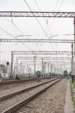 Railway electrification Royalty Free Stock Photos