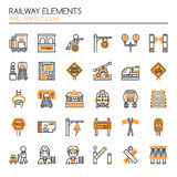 Railway Elements Royalty Free Stock Photos