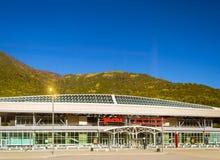 Railway Esto-Sadok station, Krasnaya Polyana, Sochi Royalty Free Stock Image