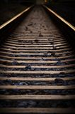 Railway at evening Royalty Free Stock Images
