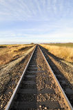 Railway extending to the horizon Royalty Free Stock Photography