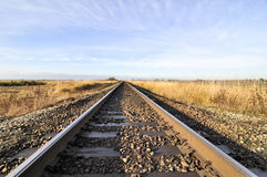 Railway extending to the horizon Stock Image