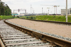 Railway and factory Royalty Free Stock Photos