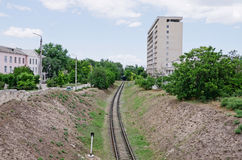 Railway in Feodosia Royalty Free Stock Photos