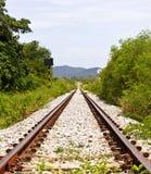 Railway on field Royalty Free Stock Photo