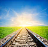 Railway in field royalty free stock photography
