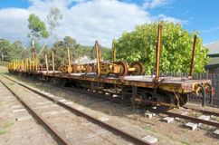 Railway flatbeds, Pemberton, Western Australia Royalty Free Stock Photos