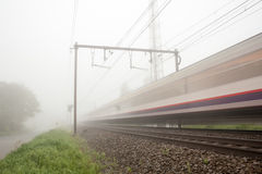 Railway foggy Stock Photography
