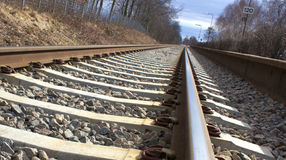 Railway, a foto with  perspective Stock Image
