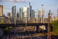 Railway and Frankfurt Stock Photos