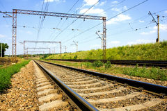Railway free for train Stock Photography