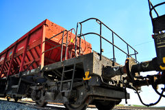 Railway freight carriage Stock Images
