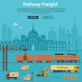 Railway Freight Delivery and Logistics Stock Photos