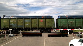 Railway freight train stock video