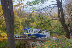 Railway funicular is an autumn Royalty Free Stock Photo