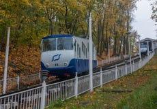 Railway funicular is an autumn Stock Photos