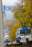 Railway funicular is an autumn Kiev Royalty Free Stock Images