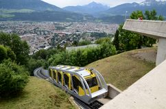Railway funicular in Innsbruck Royalty Free Stock Photo
