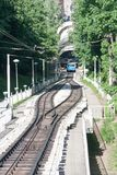 Railway funicular in Kyiv Royalty Free Stock Images