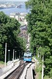 Railway funicular in Kyiv Royalty Free Stock Photography