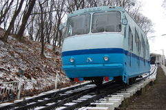 Railway funicular at winter. Kiev , Ukraine Royalty Free Stock Photography