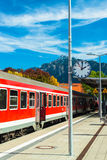 Railway in Fussen, Germany Royalty Free Stock Photos