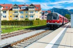 Railway in Fussen, Germany Royalty Free Stock Photo