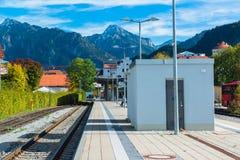 Railway in Fussen, Germany Stock Photo