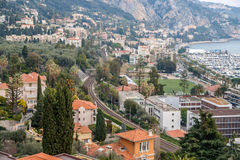 Railway in Garavan - French Riviera Stock Photos